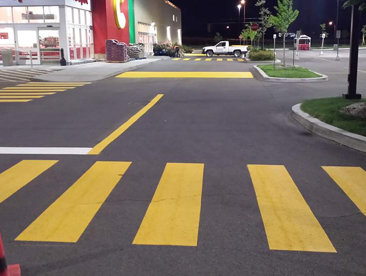 Imaginez une route sans lignes