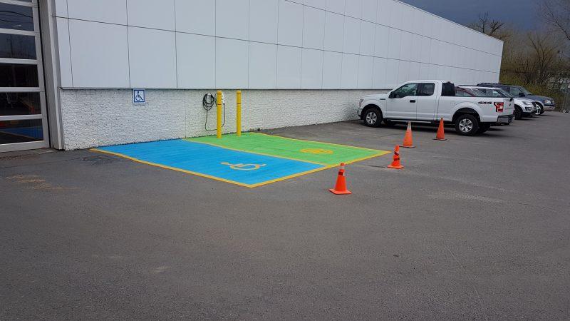 Stationnement pour voitures électriques