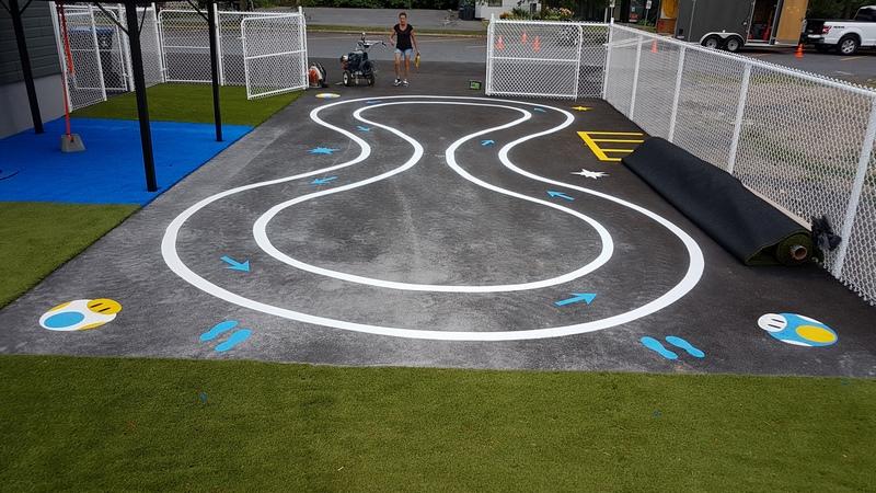 Traçage de ligne - Terrain de jeux - École - Garderie (11)