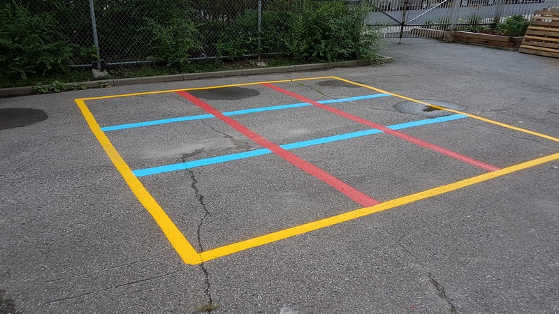 Traçage de ligne - Terrain de jeux - École - Garderie (4)