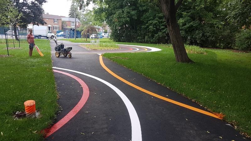 Traçage de ligne - Terrain de jeux - École - Garderie (7)