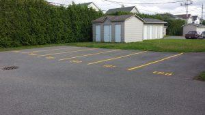 Traçage de lignes de stationnement (1)