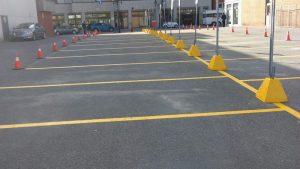 Traçage de lignes de stationnement